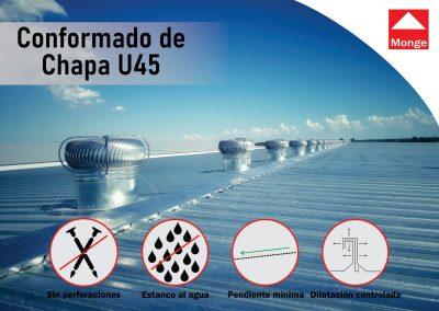 CUBIERTAS ESTANCAS EN CHAPA U-45